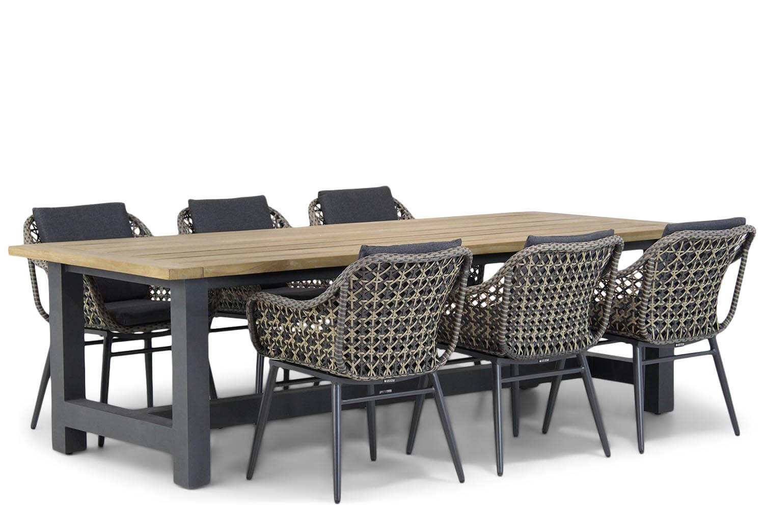 Lifestyle Dolphin/San Francisco 260 cm dining tuinset 7-delig
