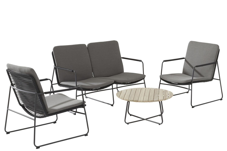 4 Seasons Outdoor Elba-Axel stoel-bank loungeset 4-delig