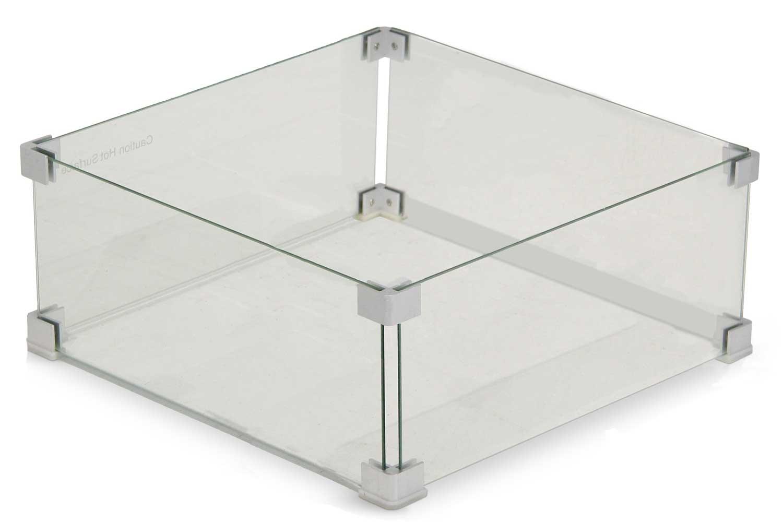Garden Collections glasset voor inbouwbrander vierkant