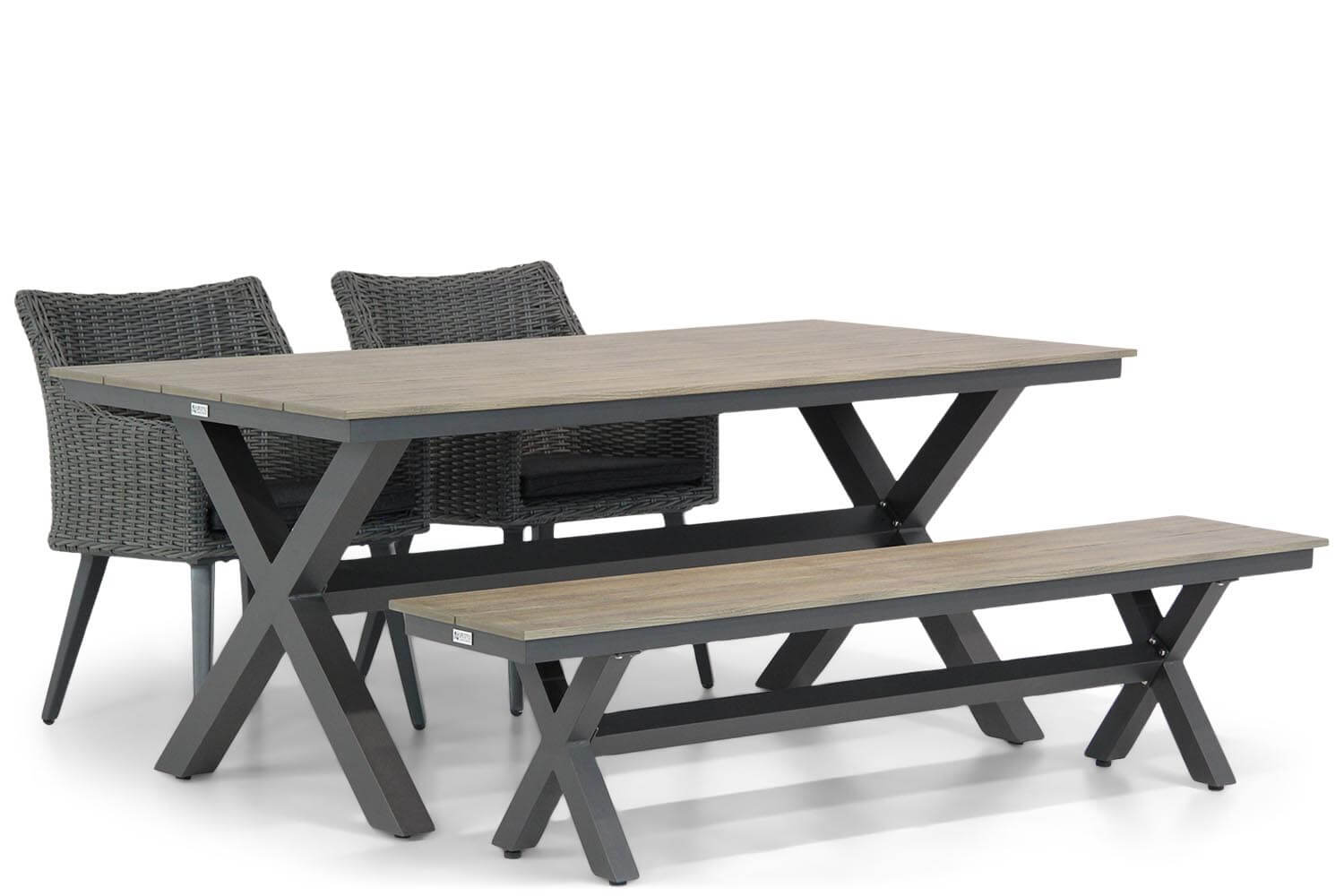 Garden Collections Milton-Forest 180 cm dining tuinset 4-delig