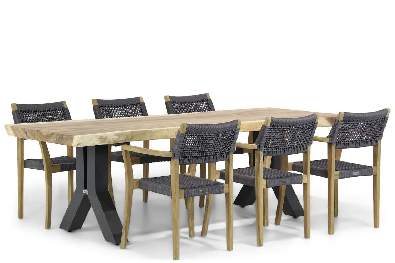 Lifestyle Dallas-Woodside 240 cm dining tuinset 7-delig