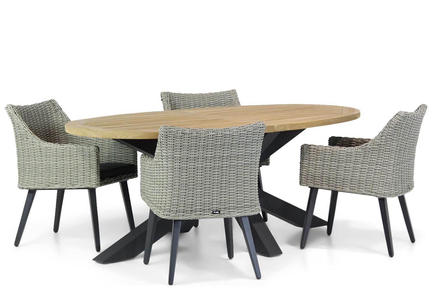 Garden Collections Milton-Brookline 200 cm ovaal dining tuinset 5-delig