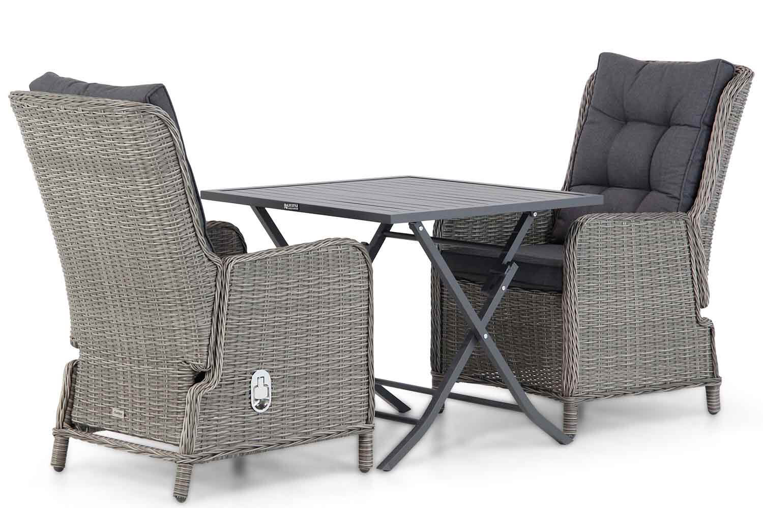 Garden Collections Kingston/Nicola 80 cm dining tuinset 3-delig