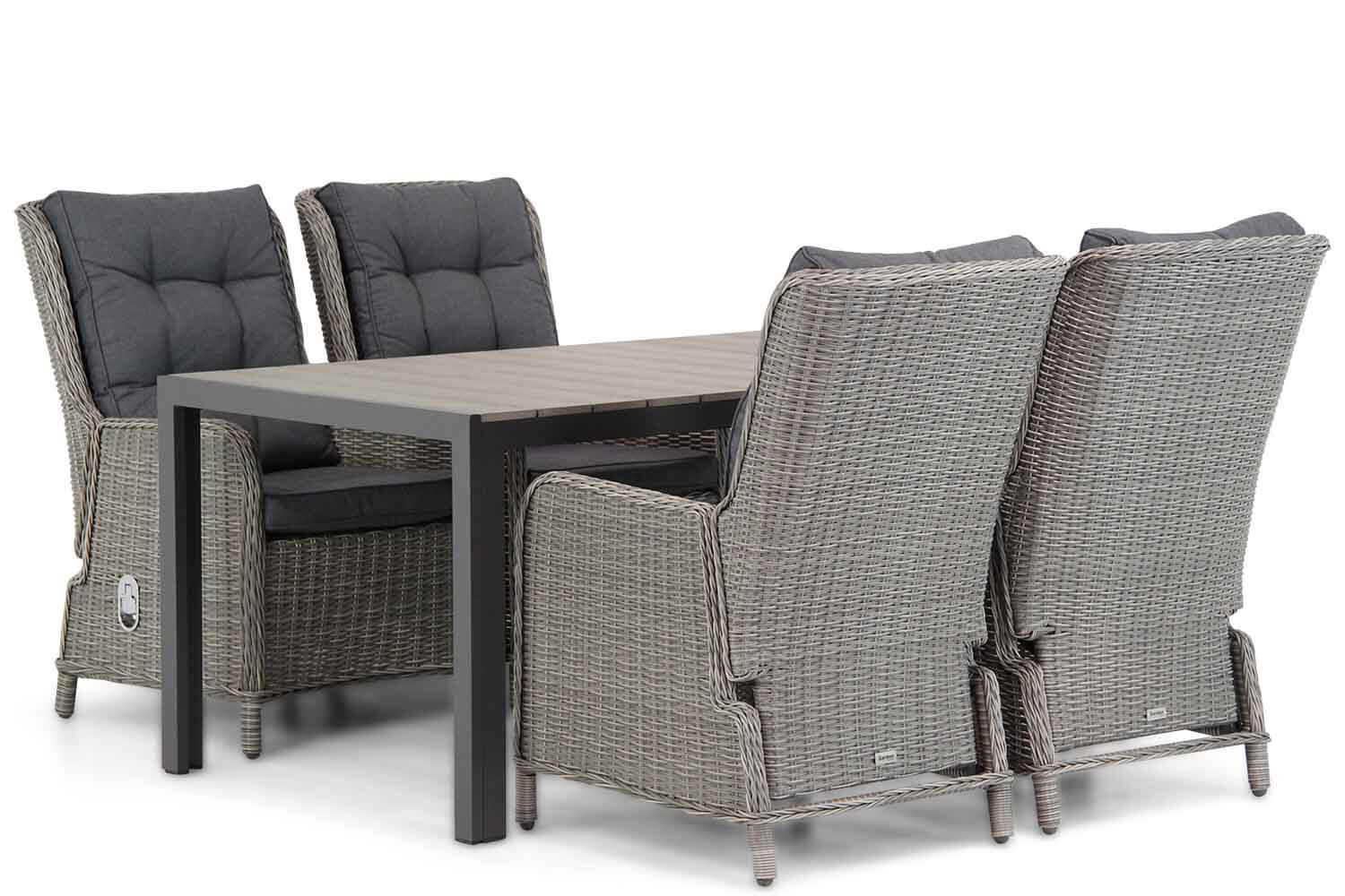 Garden Collections Kingston/Young 155cm dining tuinset 5-delig