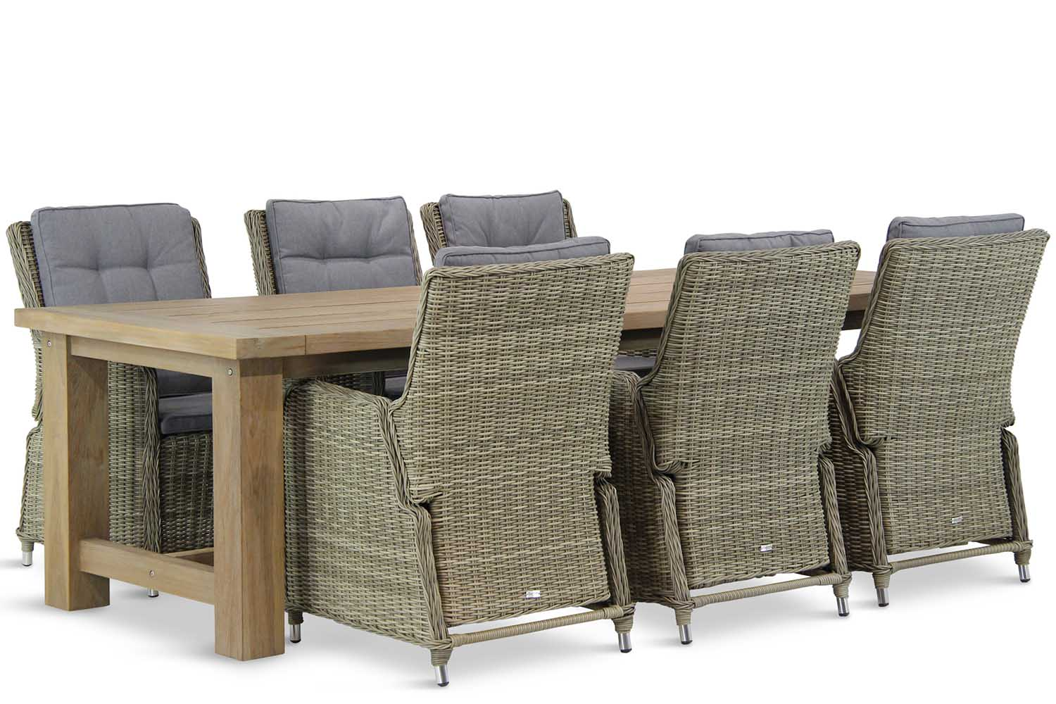Wicker Garden Collections Lancester/Fourmile 260 cm dining tuinset 7-delig