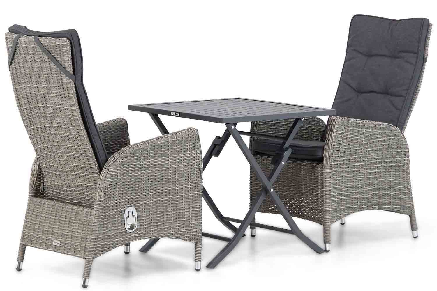 Garden Collections Lincoln/Nicola 70 cm dining tuinset 3-delig