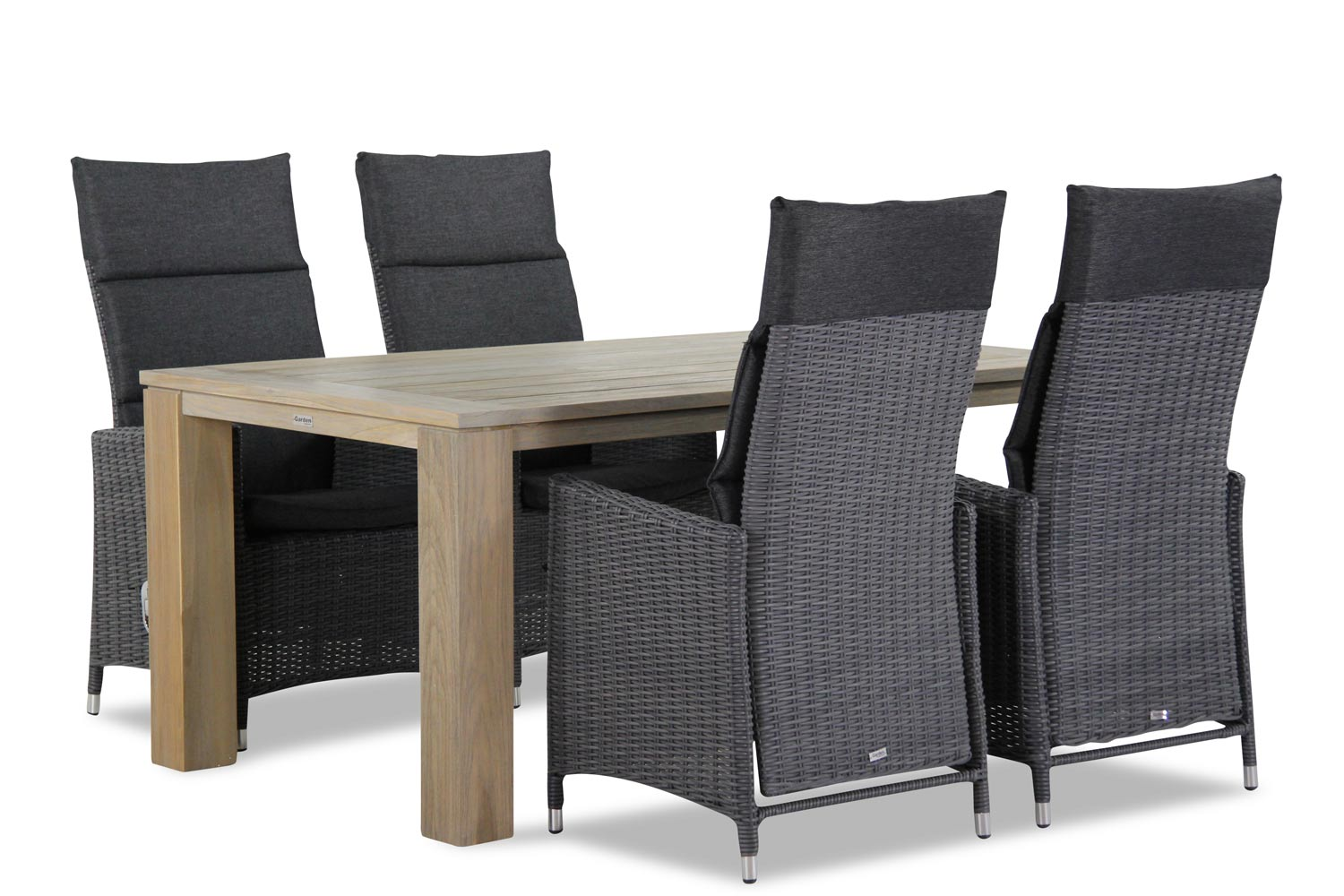 Garden Collections Madera/Brighton 165 cm dining tuinset 5-delig