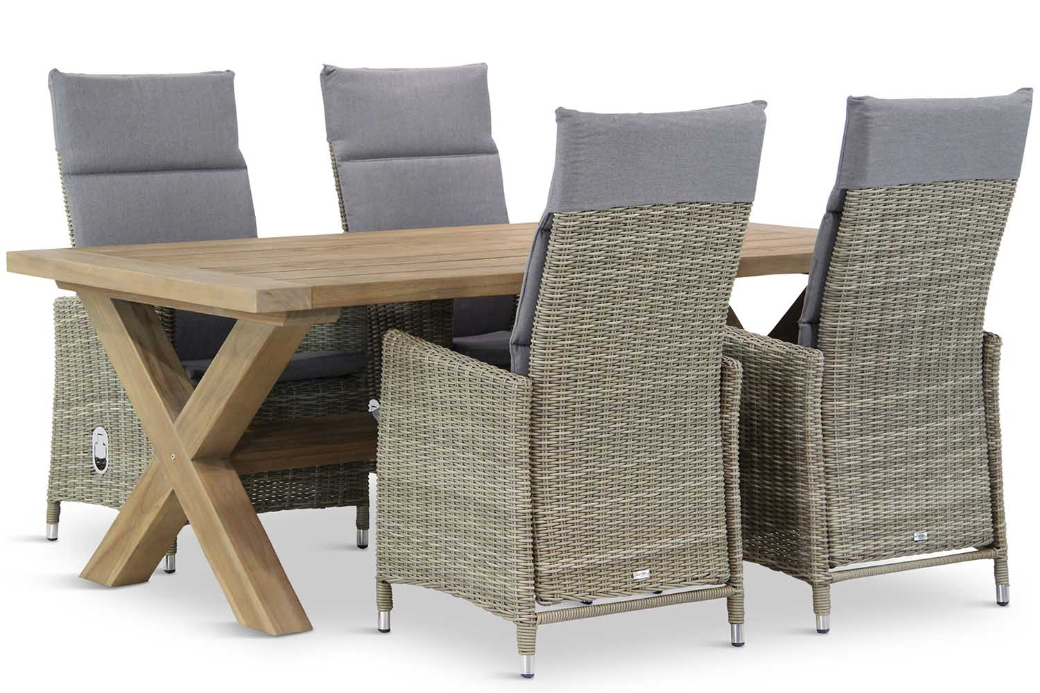 Wicker Garden Collections Madera/Oregon 200 cm dining tuinset 5-delig