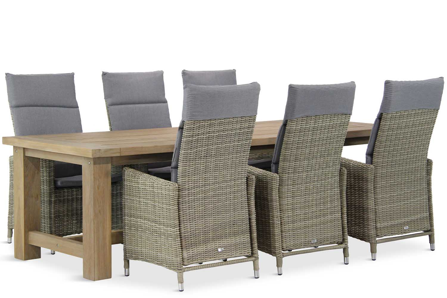 Wicker Garden Collections Madera/Fourmile 260 cm dining tuinset 7-delig