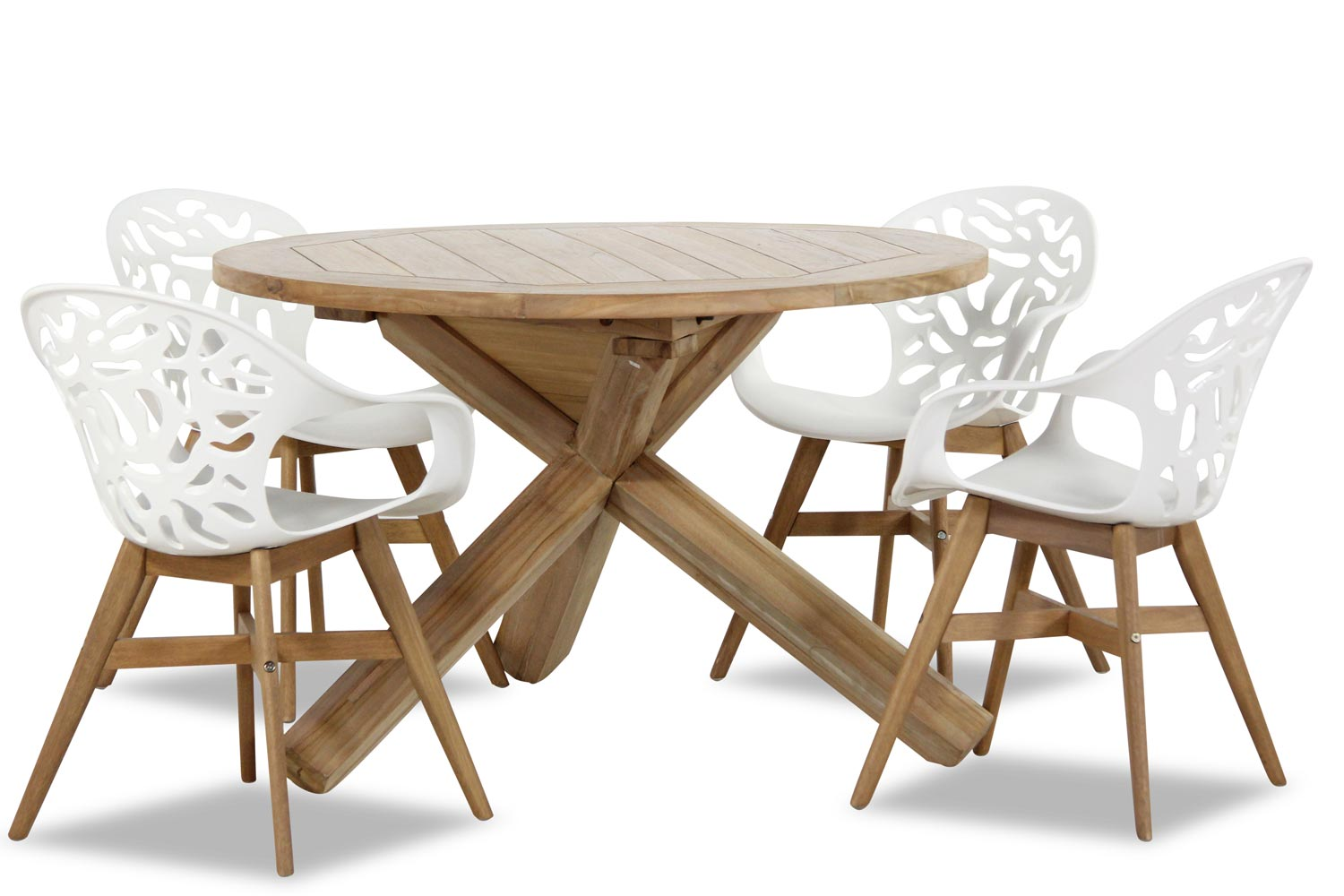 Suns Matinique/Addlerhorn rond 120 cm dining tuinset 5-delig