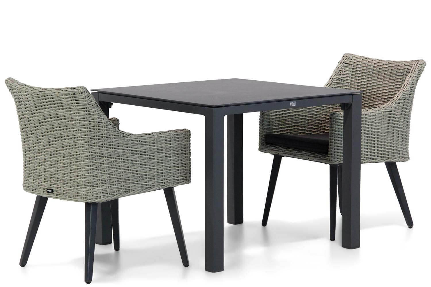 Garden Collections Milton/Pallazo 90cm dining tuinset 3-delig