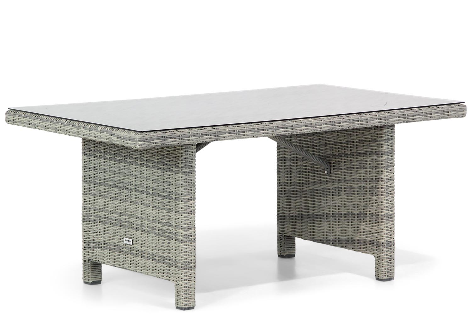 Garden Collections Napoli lounge/dining tuintafel 145 x 85 cm