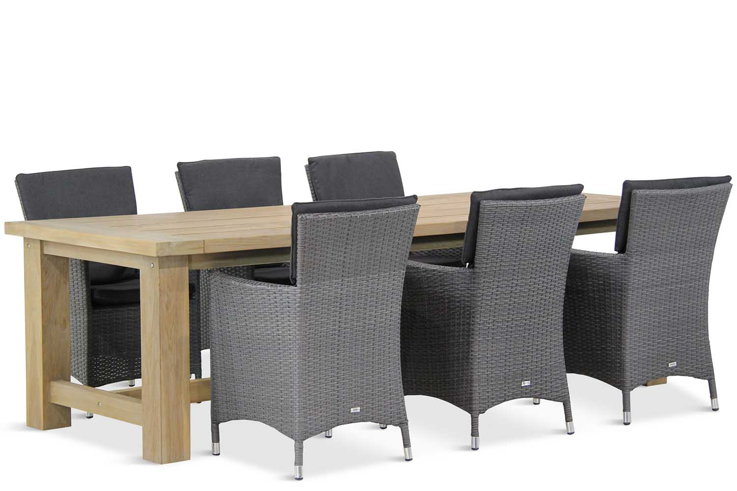 Wicker Garden Collections Orlando/Fourmile 260 cm dining tuinset 7-delig