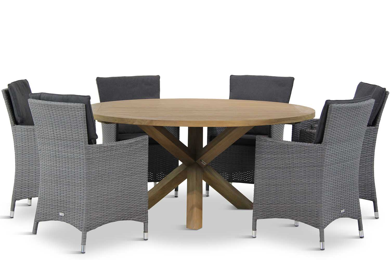 Garden Collections Orlando/Sand City rond 160 cm dining tuinset 7-delig