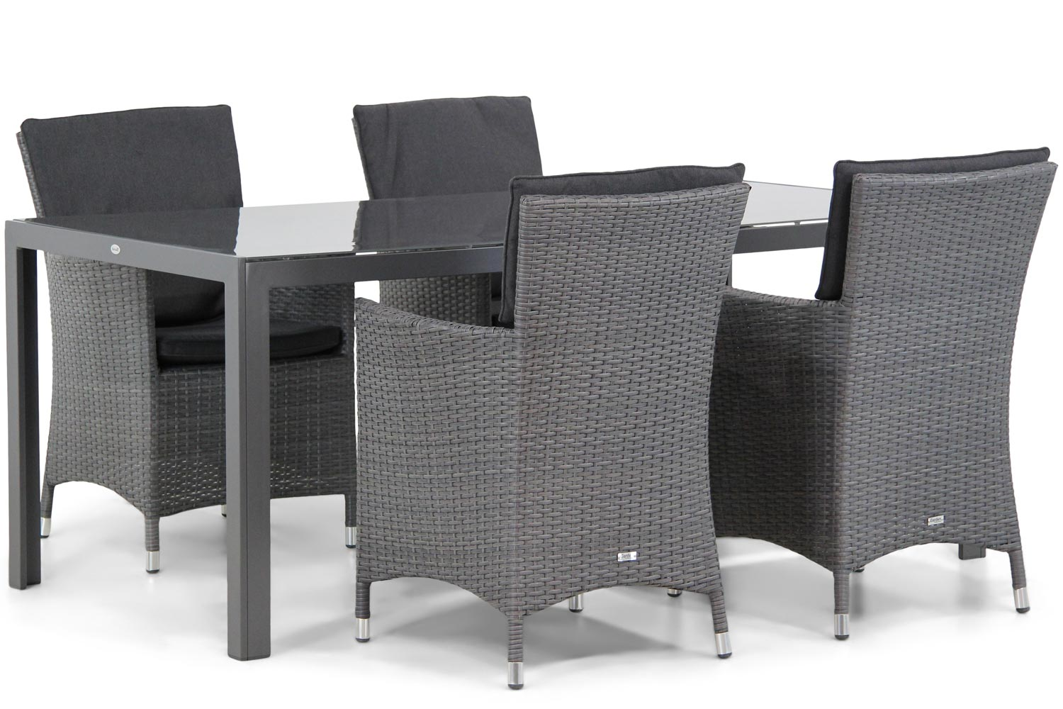 Wicker Garden Collections Orlando/Canberra 180 cm dining tuinset 5-delig