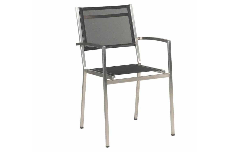 4 Seasons Outdoor Plaza stapelbare stoel zwart
