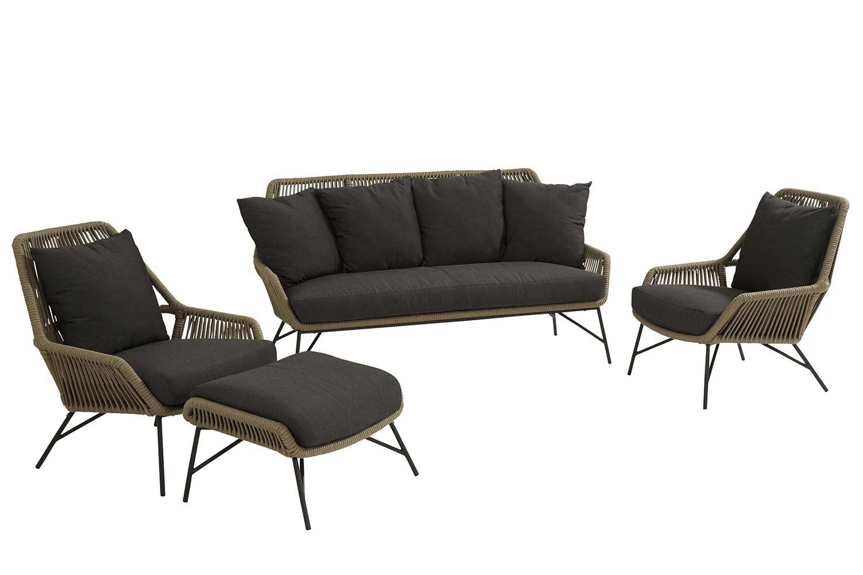 4 Seasons Outdoor Ramblas stoel-bank loungeset 4-delig