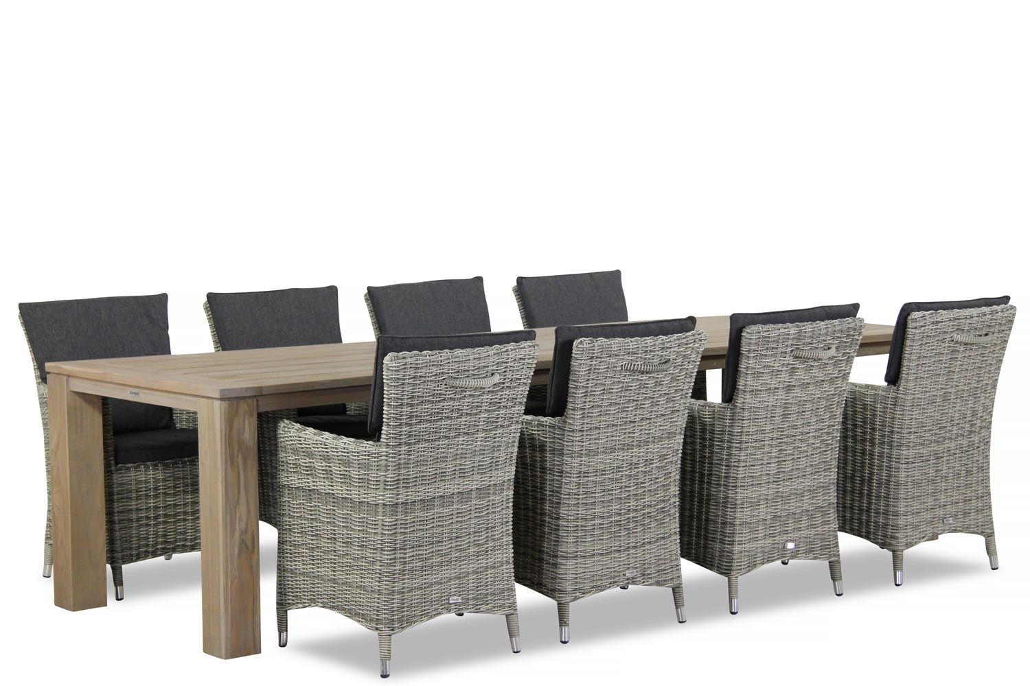 Wicker Garden Collections Springfield/Brighton 300 cm dining tuinset 9-delig
