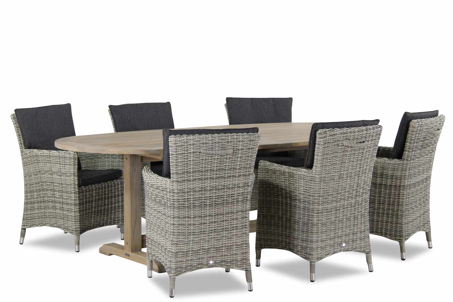 Wicker Garden Collections Springfield/Brighton 240 cm dining tuinset 7-delig