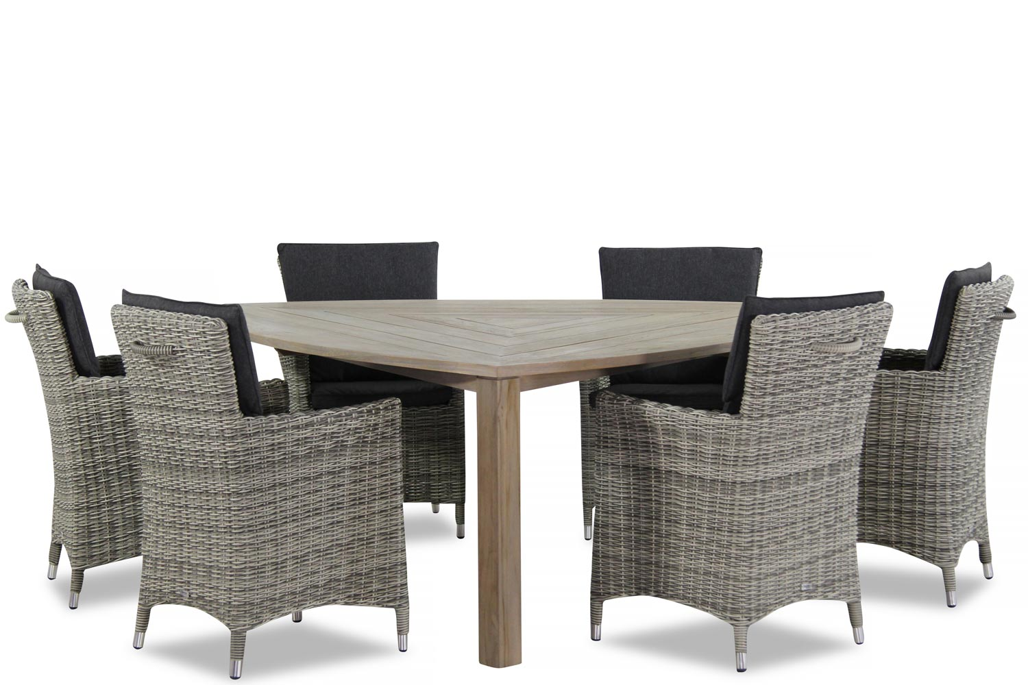 Wicker Garden Collections Springfield/Brighton 170 cm dining tuinset 7-delig