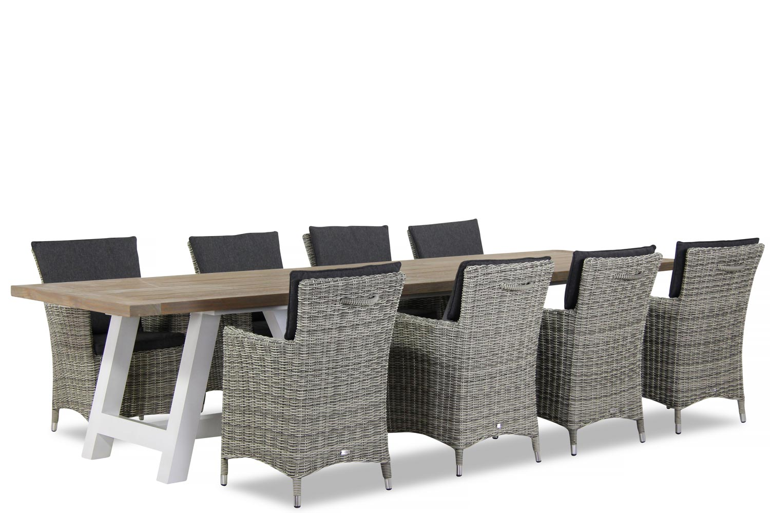 Wicker Garden Collections Springfield/Florence 330 cm dining tuinset 9-delig