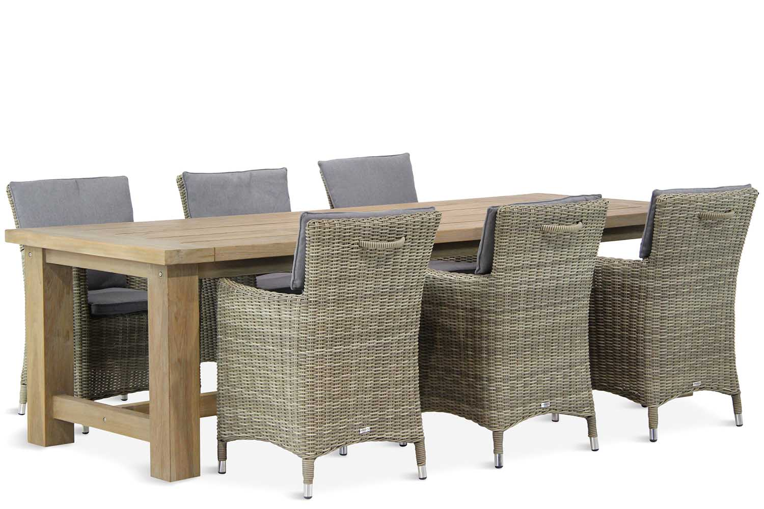 Wicker Garden Collections Springfield/Fourmile 260 cm dining tuinset 7-delig