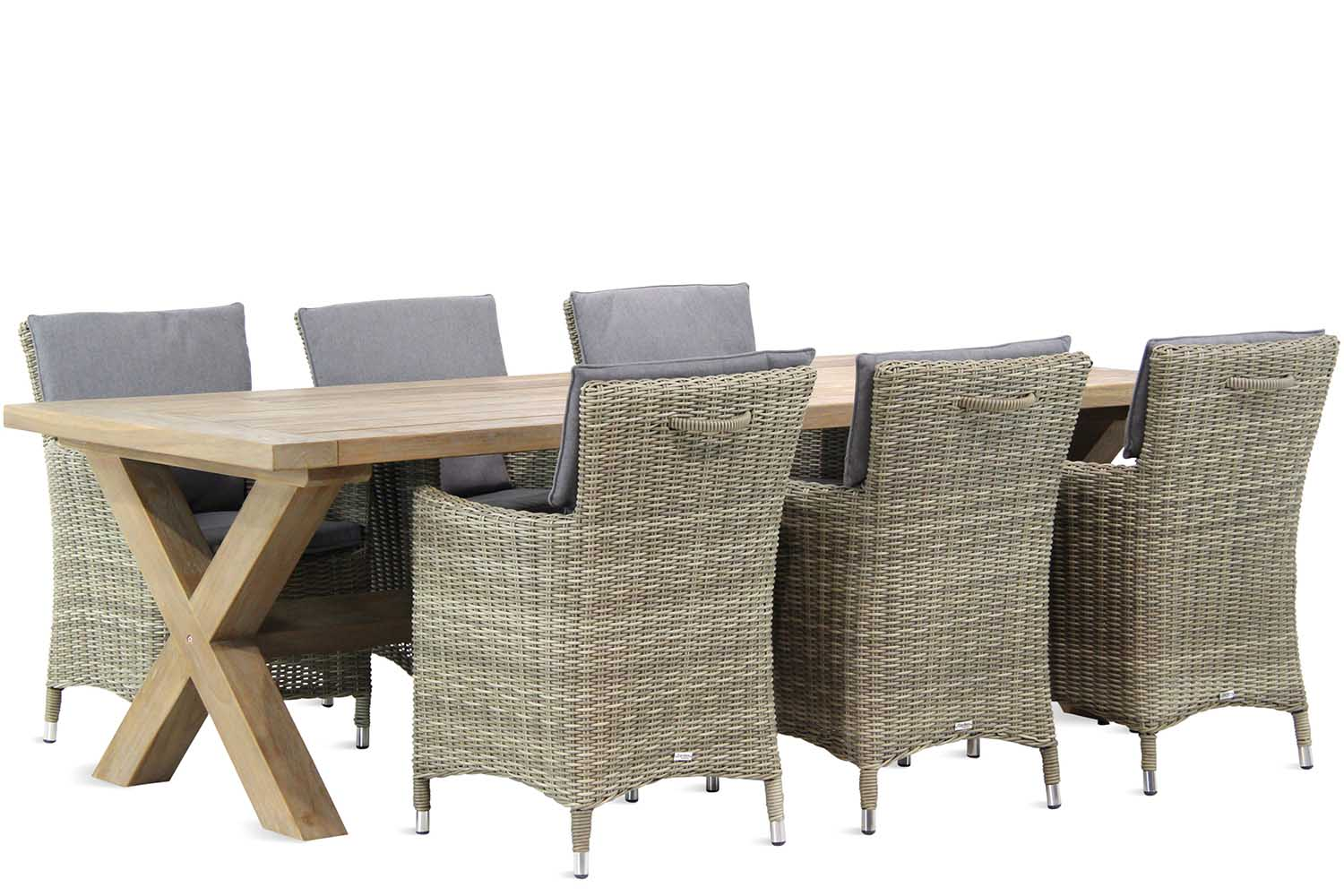 Garden Collections Springfield/Oregon 240 cm dining tuinset 7-delig