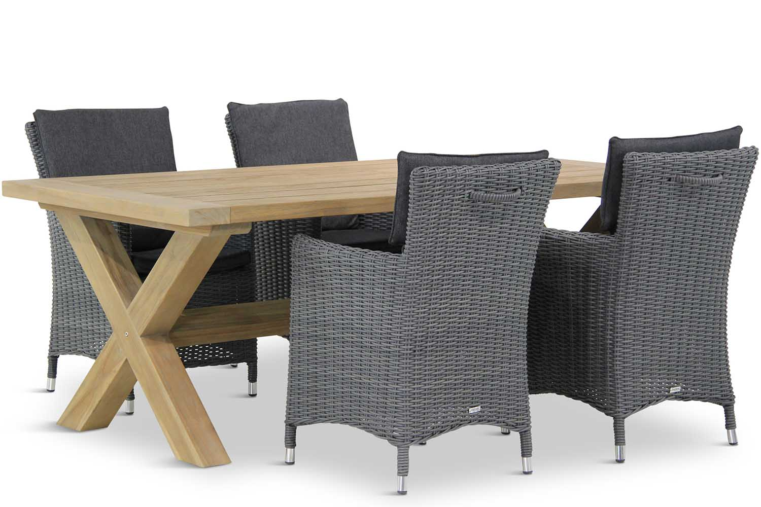 Wicker Garden Collections Springfield/Oregon 200 cm dining tuinset 5-delig