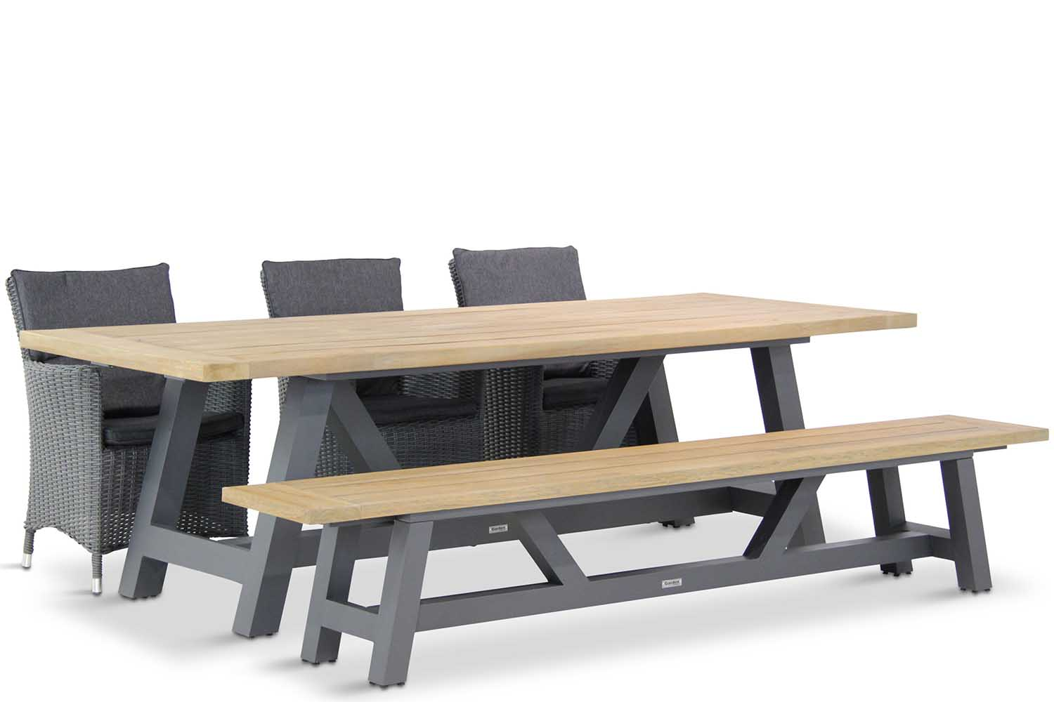 Garden Collections Springfield/Trente 260 cm dining tuinset 5-delig