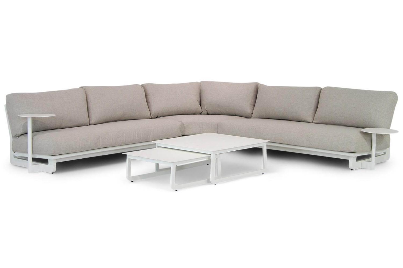 Coco Vincitore hoek loungeset 4-delig white