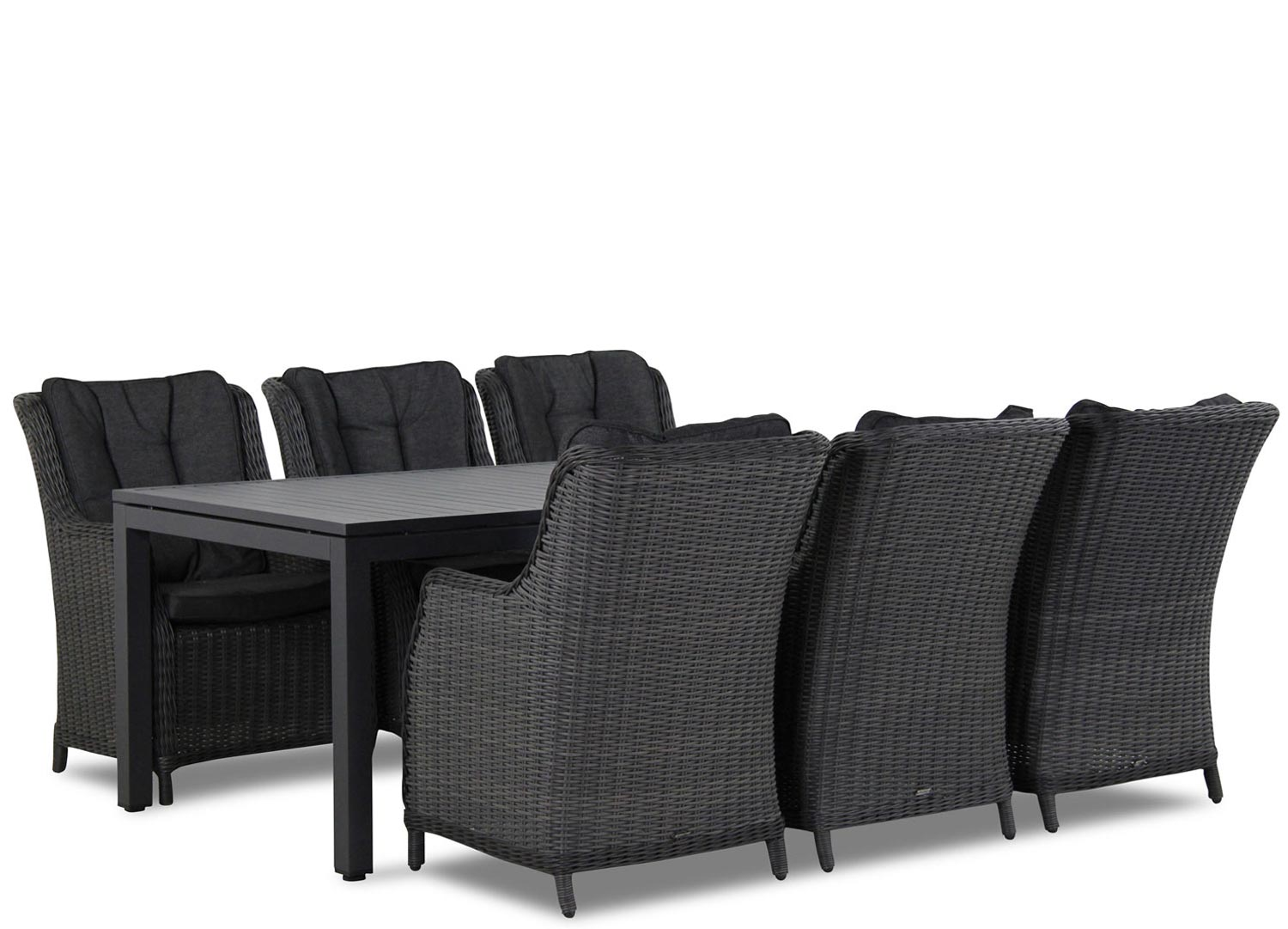 Wicker Garden Collections Buckingham/Concept 220 cm dining tuinset 7-delig