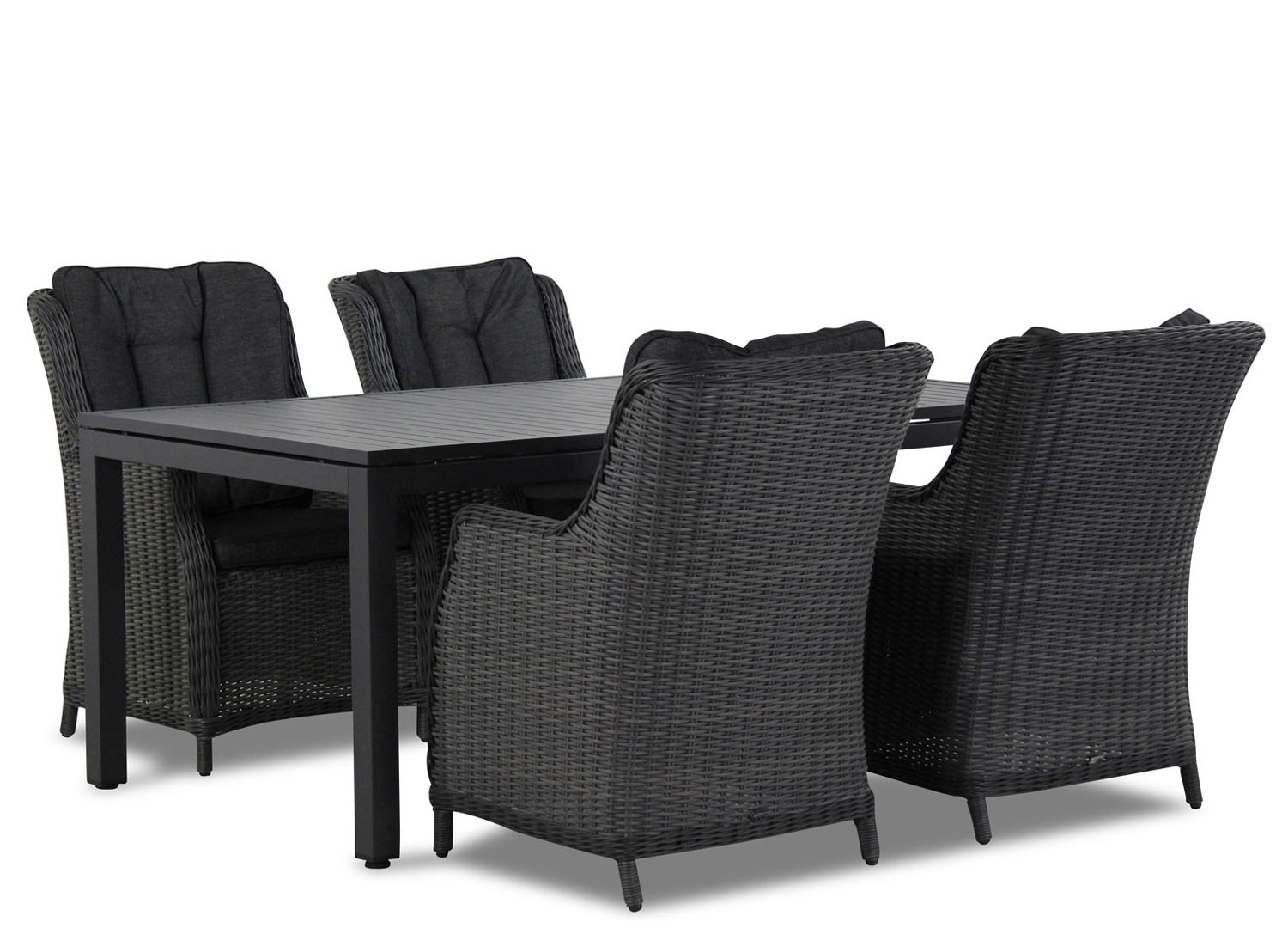 Wicker Garden Collections Buckingham/Concept 180 cm dining tuinset 5-delig