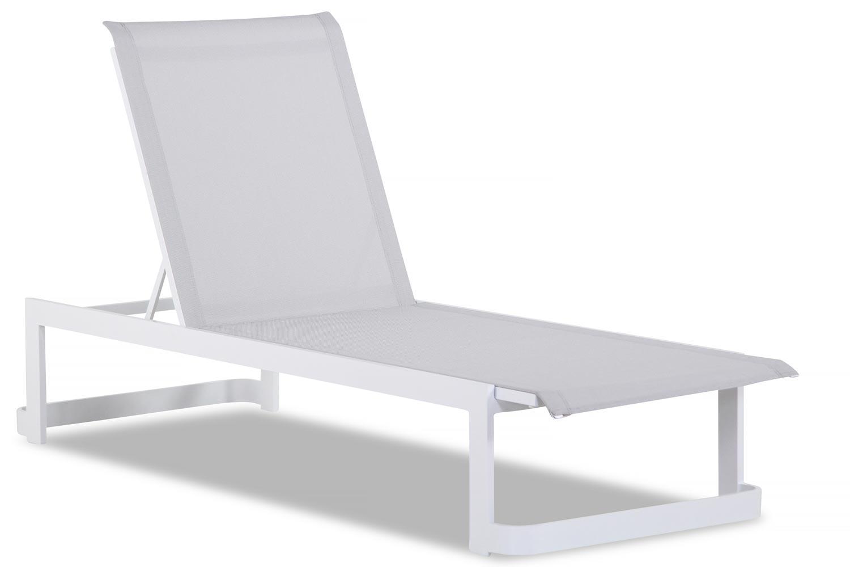 Lifestyle Vista lounger matt white
