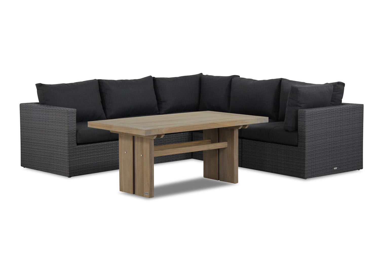 Garden Collections Houston/Brighton 140 cm dining loungeset 6-delig