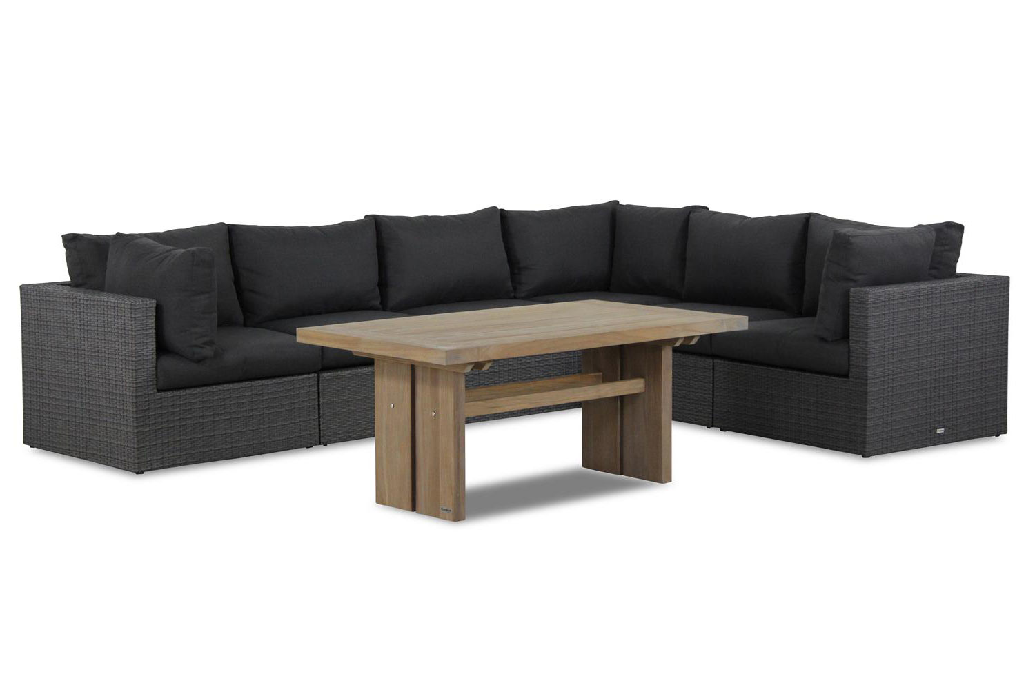 Garden Collections Houston/Brighton 140 cm dining loungeset 7-delig